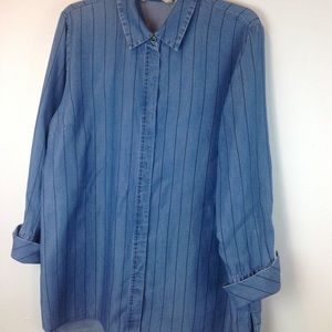 Like New Soft Surroundings Tencel Big Shirt